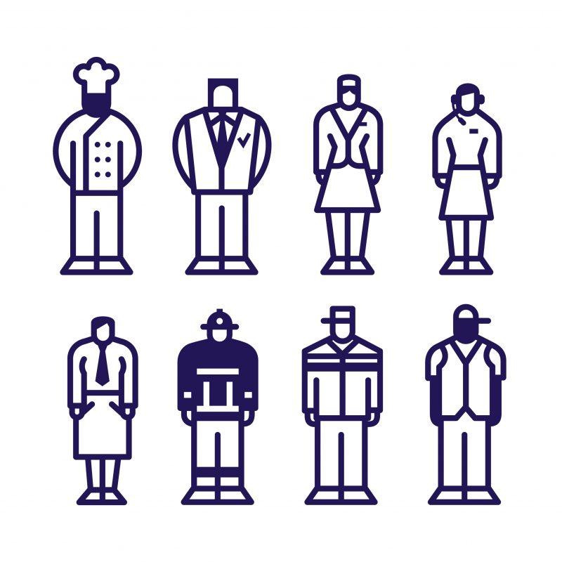 ArtAssociates:Stang:Beroepen pictogrammen voor Vakcollege Zuidrand