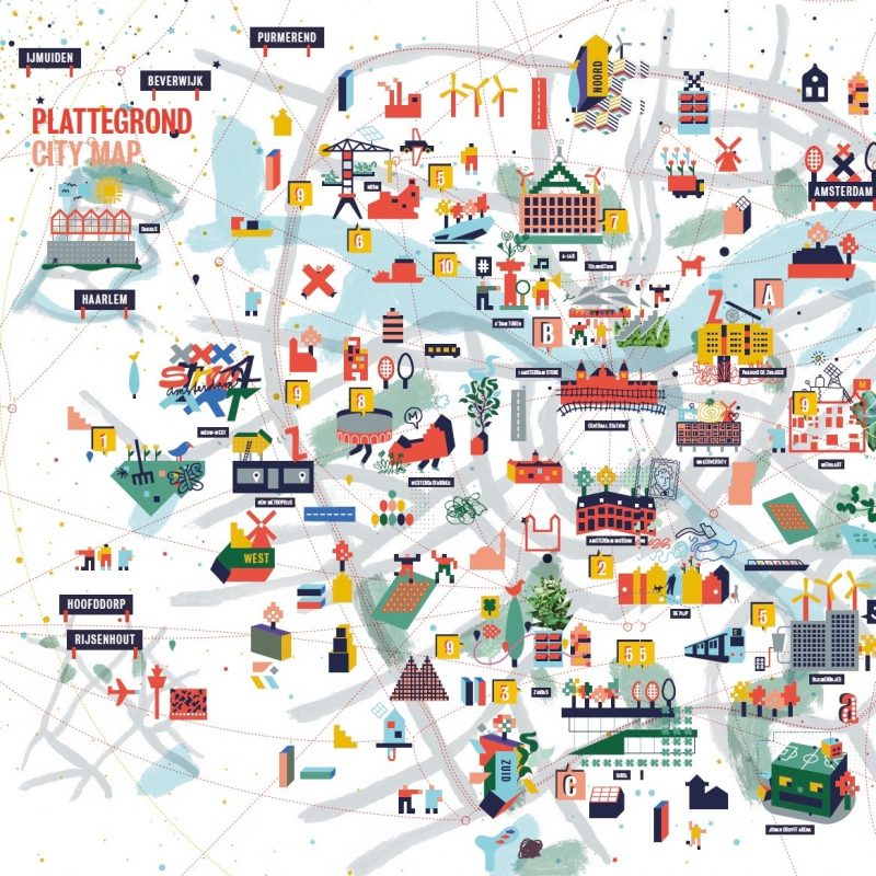 ArtAssociates:Stang:WeMakeThe.City Amsterdam Map