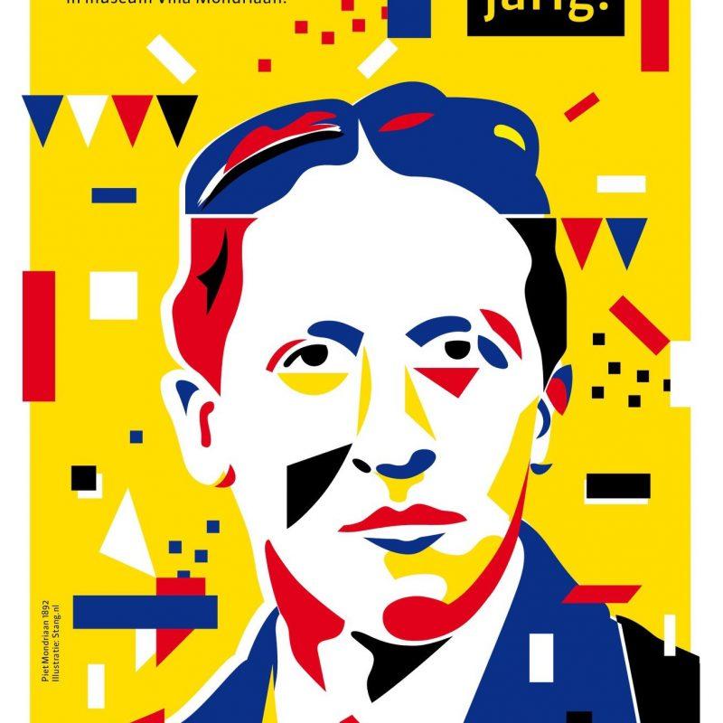 ArtAssociates:Stang:flyer for Museum Villa Mondriaan, Piet's birthday